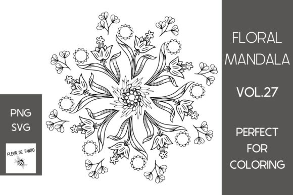 Print on Demand: Floral Mandala Vol.27 Graphic Coloring Pages & Books Adults By Fleur de Tango