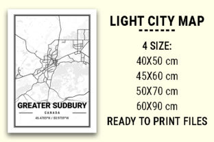 Print on Demand: Greater Sudbury Light City Map Graphic Photos By tienstencil