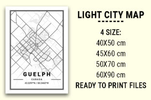Print on Demand: Guelph Light City Map Graphic Photos By tienstencil