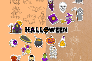 Halloween Doodle Clipart Pack - 4 Styles Graphic Objects By WADLEN