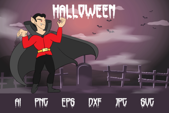 Halloween Vampire Graphic Crafts By custodestudio