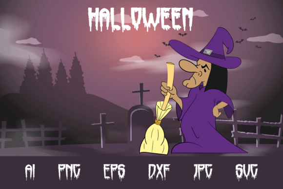 Halloween Witch Graphic Crafts By custodestudio