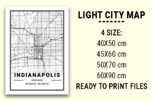 Print on Demand: Indianapolis Light City Map Graphic Photos By tienstencil