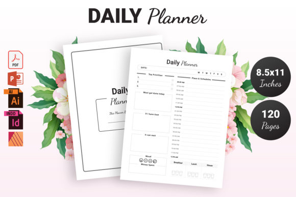 Print on Demand: KDP Daily Planner Graphic KDP Interiors By KDP Ninja - Image 1
