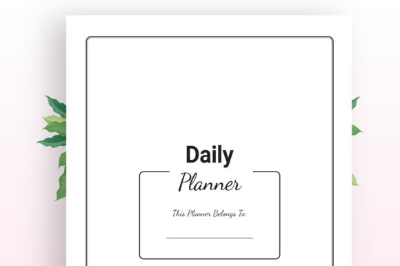 Print on Demand: KDP Daily Planner Graphic KDP Interiors By KDP Ninja - Image 2