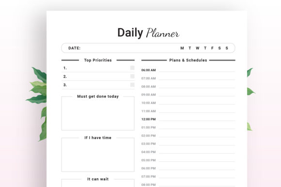 Print on Demand: KDP Daily Planner Graphic KDP Interiors By KDP Ninja - Image 3