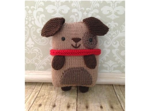 Knit Puppy Pattern Graphic Knitting Patterns By Amy Gaines Amigurumi Patterns - Image 1