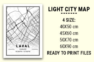 Print on Demand: Laval Light City Map Graphic Photos By tienstencil