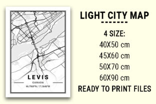 Print on Demand: Levis Light City Map Graphic Photos By tienstencil