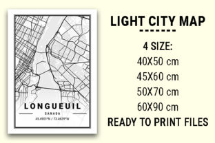 Print on Demand: Longueuil Light City Map Graphic Photos By tienstencil