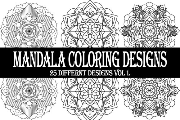 Print on Demand: Mandala Coloring Designs Graphic Coloring Pages & Books Adults By Gurus Kdp Templates - Image 1
