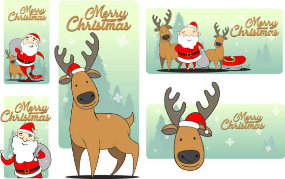 Merry Christmas Greeting Card Templates Graphic Graphic Templates By ayobergembira