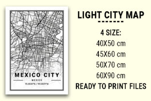 Print on Demand: Mexico City Light City Map Graphic Photos By tienstencil