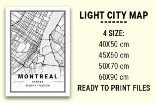 Print on Demand: Montreal Light City Map Graphic Photos By tienstencil