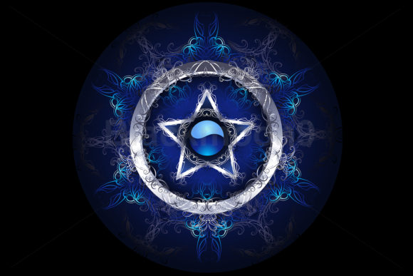 Mystic Blue Star Graphic Illustrations By Blackmoon9