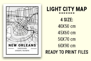 Print on Demand: New Orleans Light City Map Graphic Photos By tienstencil