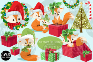 Oh What Fun Fox Pack 2809 Graphic Illustrations By AMBillustrations