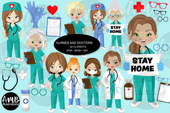 Paramedic Clipart 2806 Graphic Illustrations By AMBillustrations - Image 1