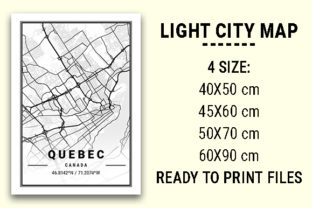 Print on Demand: Quebec Light City Map Graphic Photos By tienstencil