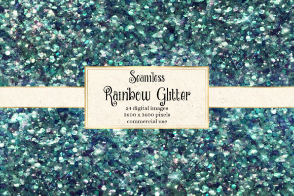 Rainbow Glitter Digital Paper Graphic Design