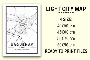 Print on Demand: Saguenay Light City Map Graphic Photos By tienstencil