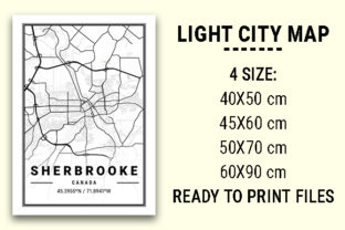 Print on Demand: Sherbrooke Light City Map Graphic Photos By tienstencil