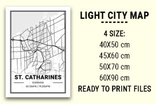 Print on Demand: St. Catharines Light City Map Graphic Photos By tienstencil