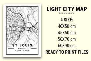 Print on Demand: St Louis Light City Map Graphic Photos By tienstencil