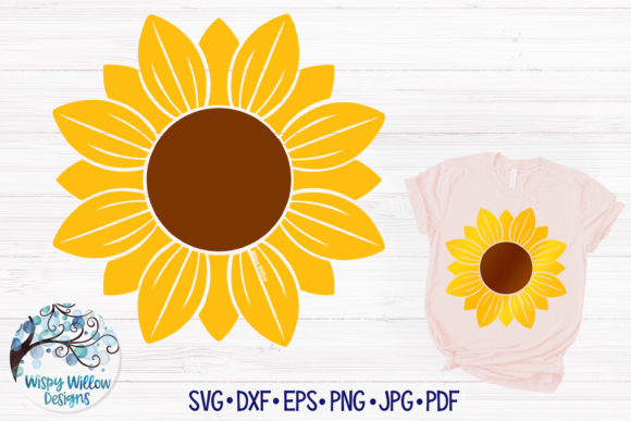 Sunflower Graphic Crafts By WispyWillowDesigns