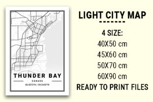Print on Demand: Thunder Bay Light City Map Graphic Photos By tienstencil