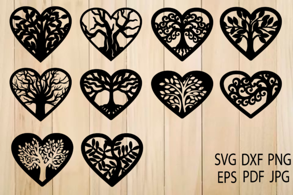 Print on Demand: Tree of Life, Tree Inside Heart Graphic Crafts By yulnniya