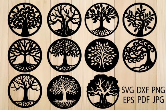 Print on Demand: Tree of Life, Trees, Tree Cut File Graphic Crafts By yulnniya