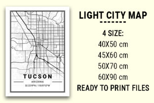 Print on Demand: Tucson Light City Map Graphic Photos By tienstencil