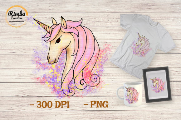 Unicorn Clipart Watercolor Cute Animal Graphic Illustrations By Rimbu Creative