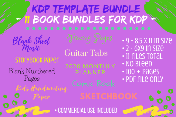 Print on Demand: 11 Fun Creative Book Template Bundle KDP Graphic KDP Interiors By Tomboy Designs