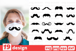 19 Mustache Design Bundle Graphic Crafts By SvgOcean
