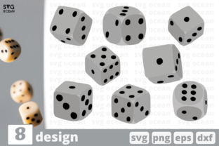 8 Dices Designs Bundle Graphic Crafts By SvgOcean