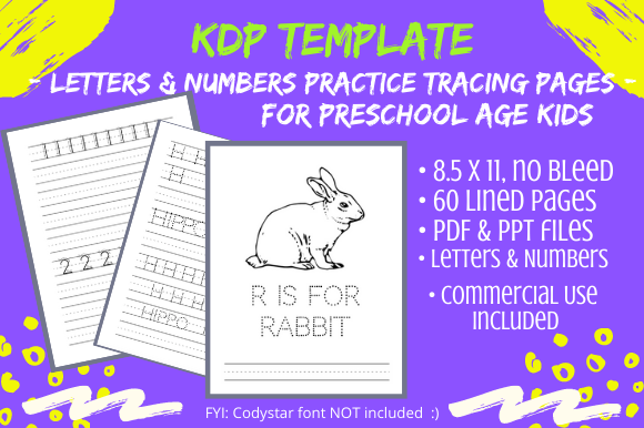 Print on Demand: Alphabet Letter Tracing Pages for Pre-K Graphic KDP Interiors By Tomboy Designs