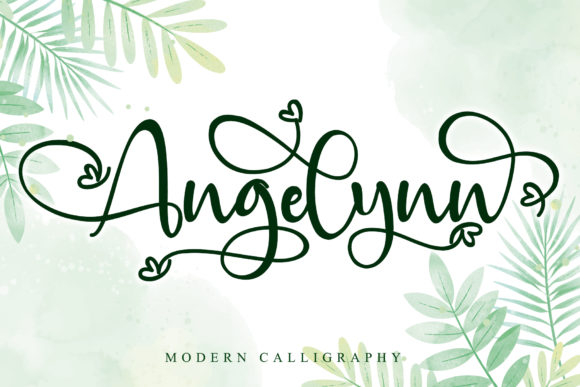 Print on Demand: Angelynn Script & Handwritten Font By thomasaradea