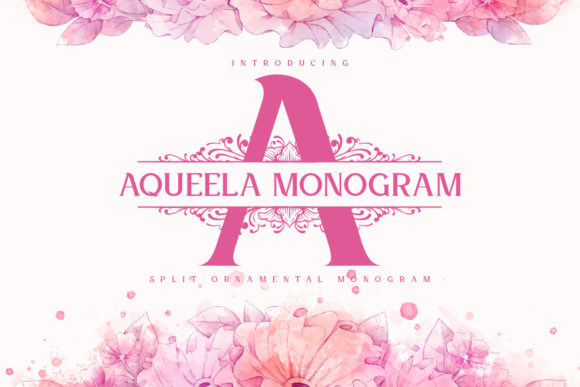 Print on Demand: Aqueela Monogram Display Font By Monogram Lovers