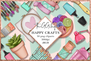 Print on Demand: Arts & Crafts Clipart Set Graphic Illustrations By TheGGShop