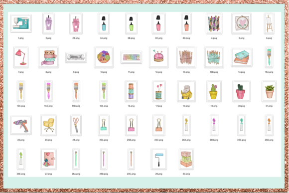 Print on Demand: Arts & Crafts Clipart Set Graphic Illustrations By TheGGShop - Image 2
