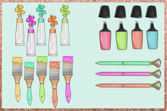 Print on Demand: Arts & Crafts Clipart Set Graphic Illustrations By TheGGShop - Image 3