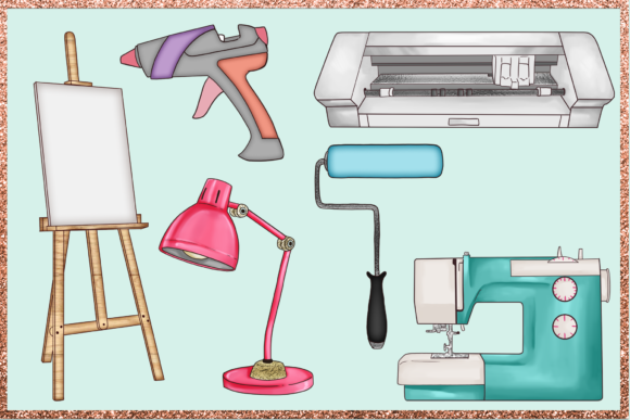 Print on Demand: Arts & Crafts Clipart Set Graphic Illustrations By TheGGShop - Image 5