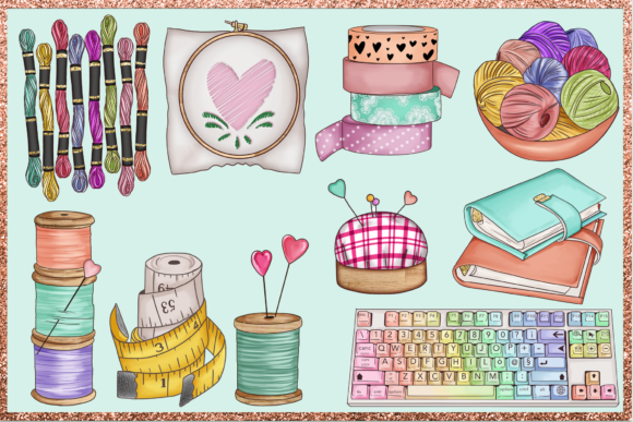 Print on Demand: Arts & Crafts Clipart Set Graphic Illustrations By TheGGShop - Image 6