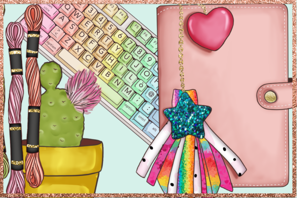 Print on Demand: Arts & Crafts Clipart Set Graphic Illustrations By TheGGShop - Image 7