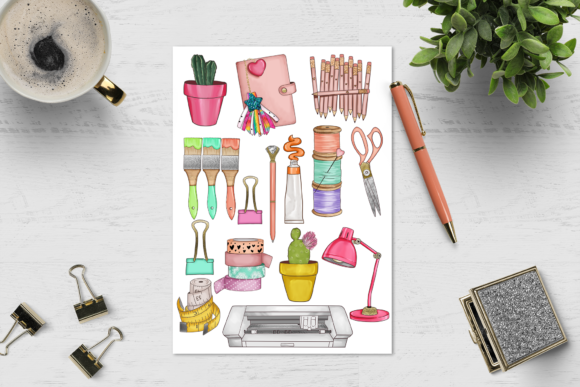 Print on Demand: Arts & Crafts Clipart Set Graphic Illustrations By TheGGShop - Image 8