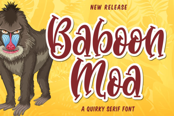 Print on Demand: Baboon Moa Script & Handwritten Font By Fallengraphic