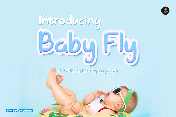 Print on Demand: Baby Fly Display Font By setyaisiam