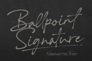 Print on Demand: Ballpoint Signature Script & Handwritten Font By agamous
